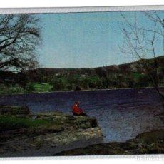 Postales: WARREN NÚM. 19 (PRINTED IN ENGLAND) - PAISAJE, LAGO, PESCADOR - EFECTO PLATEADO. Lote 144236858