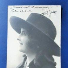 Postales: ANTIGUA TARJETA POSTAL. SEÑORITA. FIRMADA Y FECHADA EN 1924. Lote 144776470