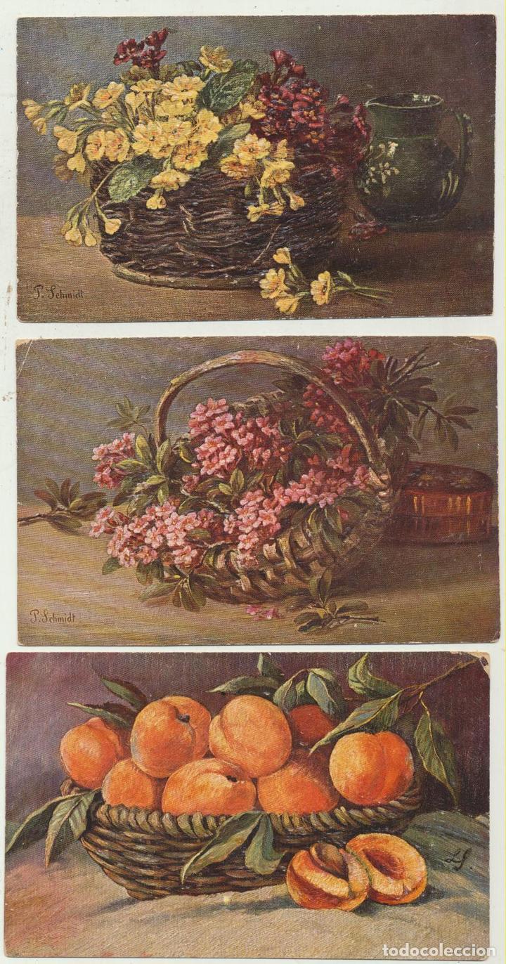 LOTE DE 3 POSTALES ALEMANAS. CON RELIEVE. AÑOS 30-40 (Postales - Varios)