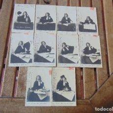 Postales: 10 TARJETA POSTAL REVERSO SIN DIVIDIR PRIMEROS AÑOS SIGLO XX MODERNISTA NIÑA EN LOS ESTUDIOS. Lote 146200250