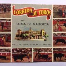 Postales: POSTAL CORRIDA DE TOROS EN PALMA DE MALLORCA 1963. Lote 146914442