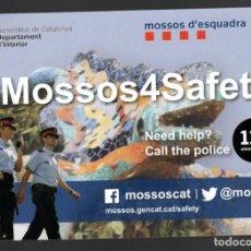 Postales: HOJA PUBLICITARIA MOSSOS D´ESQUADRA / MOSSOS4SAFETY - GENERALITAT DE CATALUNYA. Lote 147231346