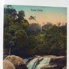Postales: TWIN FALLS WATERFALL LANDSCAPE CATARATAS. Lote 147316330
