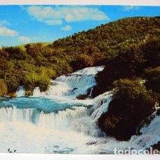 Postales: SLAPOVI KRKE CASCADE WATERFALL LANDSCAPE. Lote 147317938