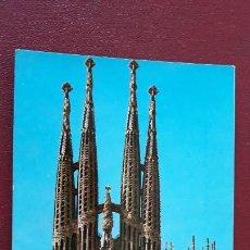 Postales: POSTAL BARCELONA TEMPLO SAGRADA FAMILIA. Lote 147459578