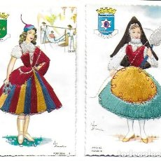 Postales: P- 9075. PAREJA DE POSTALES BORDADAS PORTUGAL, Nº 9 Y 11. . Lote 148139706