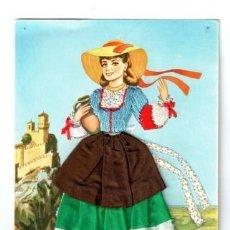 Postales: TARJETA POSTAL TRAJE REGIONAL BORDADO. Lote 148156342