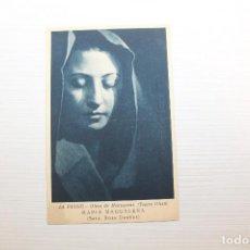 Postales: POSTAL LA PASSIÓ, OLESA DE MONTSERRAT, MARIA MAGDALENA, SRTA. ROSA DUEÑAS. Lote 148433698