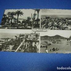 Postales: LAS PALMAS DE GRAN CANARIAS ,PUEBLO CANARIO PLAYA DE LAS CANTERAS,CALLE MAYOR DE TRIANA Y VISTA PARC. Lote 148606798