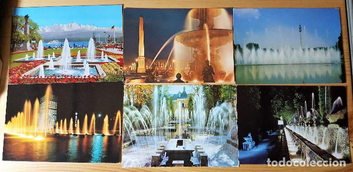 Postales: Lote de 20 postales de fuentes rotondas glorietas agua - Foto 2 - 149264462