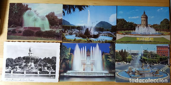 Postales: Lote de 20 postales de fuentes rotondas glorietas agua - Foto 3 - 149264462