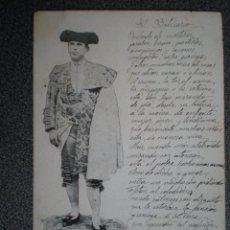 Postales: TEMATICA TAURINA GUERRITA EXMATADOR POSTAL AÑO 1904. Lote 149339858