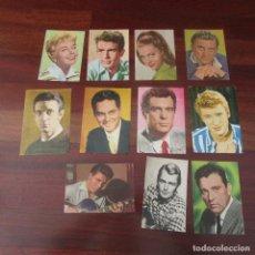 Postales: LOTE POSTALES CINE ACTORES AÑOS 60 PELICULAS. Lote 149733734