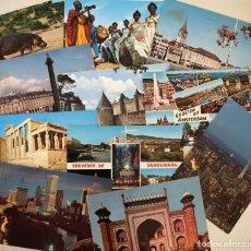 Postales: LOTE DE MÁS DE 160 POSTALES CIRCULADAS DE PAÍSES EXTRANJEROS, AÑOS 1940-70S. Lote 152561854