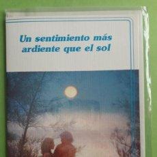 Postales: POSTAL UN SENTIMIENTO MAS ARDIENTE QUE EL SOL. C Y Z 3183/66. IMPR A.G.COBAS S.A. BARCELONA. AÑOS 80. Lote 152585386