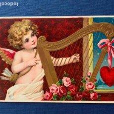 Postales: POSTAL DE SAN VALENTIN CON RELIEVE. CIRCULADA 1910.. Lote 153716562
