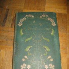 Postales: ALBUM ANTIGUO PARA COLECIONAR POSTALES AÑO 1900 - DENTRO HOJAS ROTAS. Lote 156035334