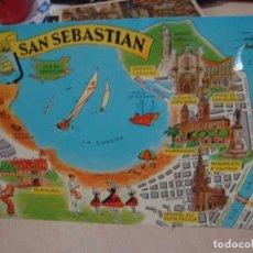 Postales: POSTAL DE SAN SEBASTIAN FRESMO AÑOS 60. Lote 156518158
