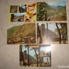 Postales: LOTE POSTALES DE LES VALLS D´ANDORRA . Lote 156558970