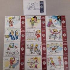 Postales: LOTE DE 12 ANTIGUAS POSTALES DE LA LOTERIA. Lote 157212662