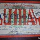 Postales: REPUBLICA ARGENTINA / RADIOAFICIONADO - CORDOBA ,ALFONSO A. LORENZI LU1HAW . Lote 160094550