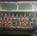 Postales: POSTAL DOBLE DE LA PLANTILLA DEL FUTBOL CLUB BARCELONA TEMPORADA 1969 - 70. Lote 160779090
