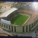 Postales: POSTAL DOBLE DEL ESTADIO DEL FUTBOL CLUB BARCELONA AÑO 1981 FOTO A. ZERKOWITZ. Lote 160779886