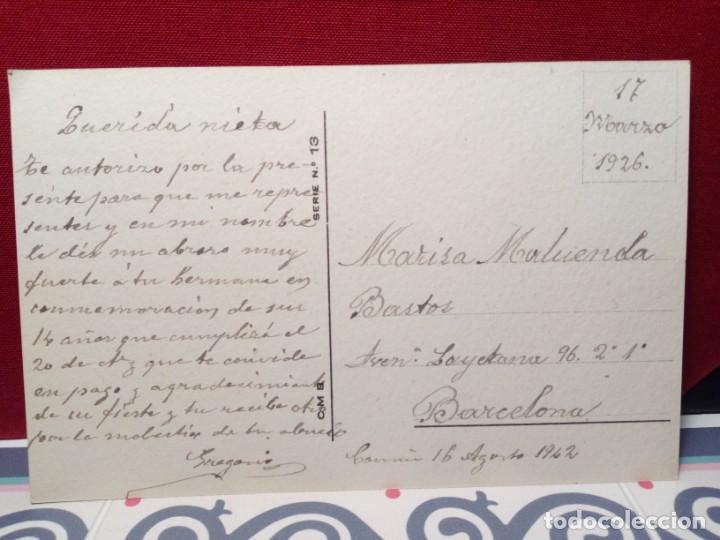 Postales: ANTIGUA POSTAL FLORES (AÑOS 30) CIRCULADA - REF: 135/149 - Foto 2 - 162325598