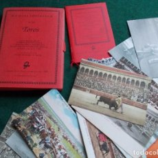Postales: 25 VIEJAS POSTALES DE TOROS REPRODUCCION AYUNTAMIENTO DE SEVILLA 1992. Lote 162557178