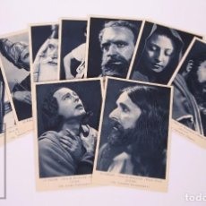Postales: COLECCIÓN 9 POSTALES LA PASSIÓ. OLESA DE MONTSERRAT / TEATRE OLESA - ACTORES Y ACTRICES - FOT VILARÓ. Lote 162577686