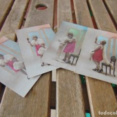 Postales: TARJETA POSTAL 4 POSTALES ELIANE ARTISTA. Lote 162691178