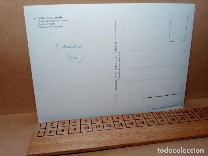 Postales: LOTE 5 POSTALES (SIN CIRCULAR) CASTILLOS Y MONASTERIOS DE ESPAÑA (AÑOS 70) - REF: 210/220 - Foto 11 - 162933618