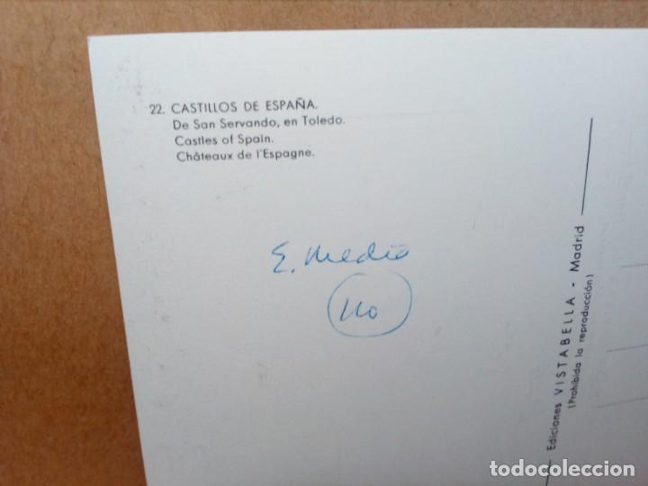 Postales: LOTE 5 POSTALES (SIN CIRCULAR) CASTILLOS Y MONASTERIOS DE ESPAÑA (AÑOS 70) - REF: 210/220 - Foto 12 - 162933618