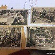 Postales: LOTE DE 4 POSTELES DE ENSEÑANZA. HANOMAG. 1430, 1431, 1435, 1437. Lote 163714506