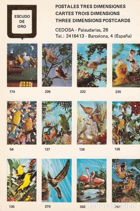 POSTAL 19103: POSTALES TRES DIMENSIONES: PAJAROS (Postales - Varios)