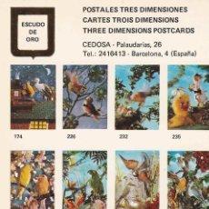 Postales: POSTAL 19103: POSTALES TRES DIMENSIONES: PAJAROS. Lote 122198630