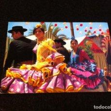 Postales: POSTAL. 2. ESPAÑA TÍPICA. FERIA ANDALUZA. BERGAS, INDUSTRIAS GRÁFICAS. POSTAL NO ESCRITA. . Lote 165455350