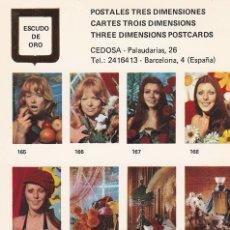 Postales: POSTAL B10756: POSTALES TRES DIMENSIONES: DIVERSOS ASPECTOS. Lote 151408874