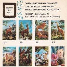 Postales: POSTAL B10914: POSTALES TRES DIMENSIONES: DIFERENTES ASPECTOS. Lote 151391356