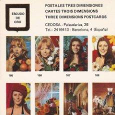 Postales: POSTAL B10915: POSTALES TRES DIMENSIONES: DIFERENTES ASPECTOS. Lote 151391389