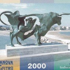 Postales: POSTAL B11354: VILANOVA I LA GELTRU 2000. CALENDARIO DE FIESTAS. Lote 153546421