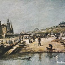 Postales: POSTAL B12269: LEPINE. MUELLE DE FLORES. OLEO. Lote 162459993