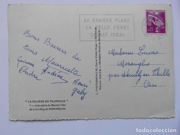 Postales: CORRIDA DE TOROS. UN PAR DE BANDERILLAS DE LUIS MIGUEL DOMINGUIN. ELCE. CIRCULADA. CCTT - Foto 2 - 165847058
