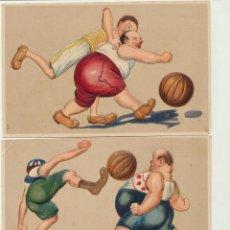 Postales: LOTE DE 3 POSTALES FUTBOL (RELIEVE). Lote 166514030