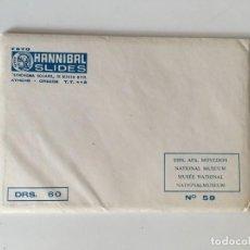 Postales: SOBRE PARA POSTALES NAT.MUSEO ATENAS. Lote 167991284