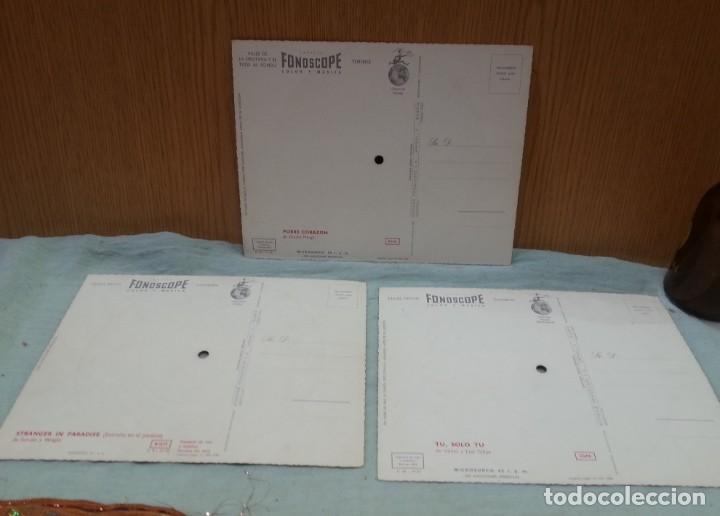 Postales: Tarjeta postal sonora Fonoscope. Año 1958. Tres Tarjetas - Foto 5 - 168478064