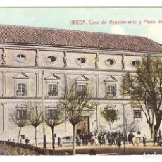 Cartes Postales: ÚBEDA.- CASA DEL AYUNTAMIENTO Y PASEO DE LA CÁRCEL. Lote 169367090