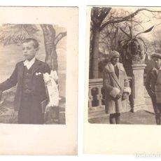 Postais: LOTE DE 2 FOTOGRAFÍAS (FOTO-POSTAL) FECHADA EN 1930. Lote 169367928