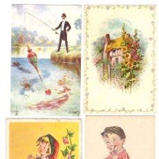 Postales: LOTE DE 4 POSTALES: INGLESAS (2) ALEMANA (1) Y ESPAÑOLA (1) EN CATALÁN. Lote 169367988