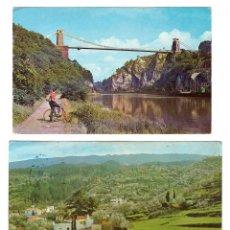 Postales: LOTE DE 2 POSTALES. EL PUENTE COLGANTE DE CLIFTON Y LA ISLA DE SAN MIGUEL DE LA PALMA. FRANQUEADAS Y. Lote 169368044